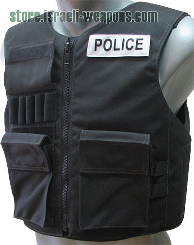 Hagor Police External BulletProof Body Armor Vest with Zipper Level IIIA 3A