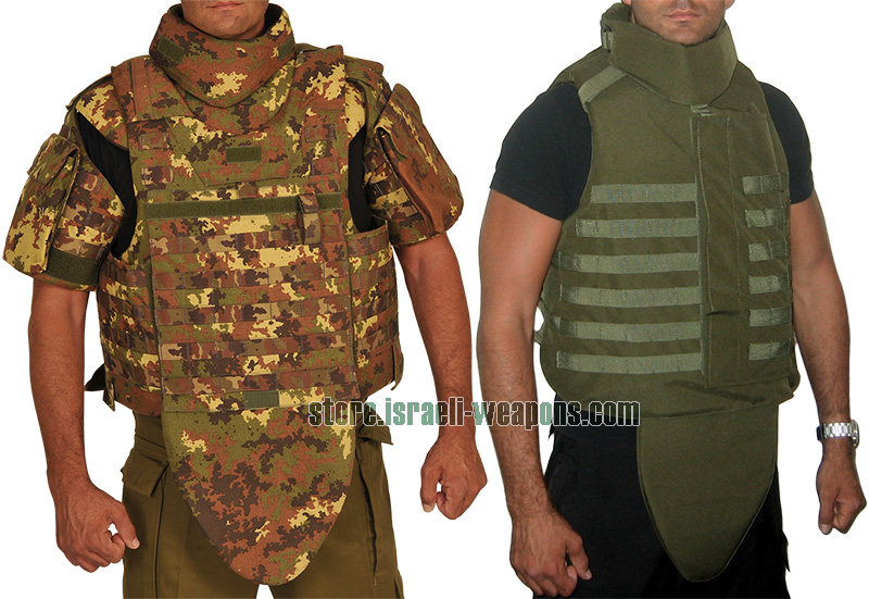 Hagor US Army Bullet Proof Body Armor Vest Molle, Side, Neck & Groin Protection IIIA 3A