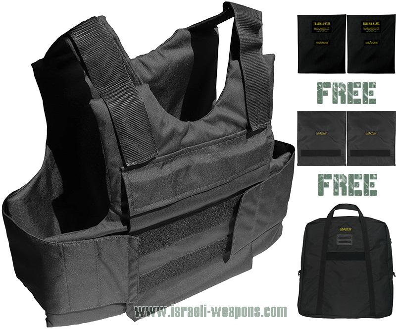 IWEAPONS® External Personal Bullet Proof Vest Armor IIIA