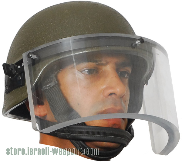 Hagor Bulletproof Ballistic Helmet Includes Visor / Face Shield level IIIA 3A